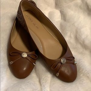 Antonio Melani Leather Ballet Flat